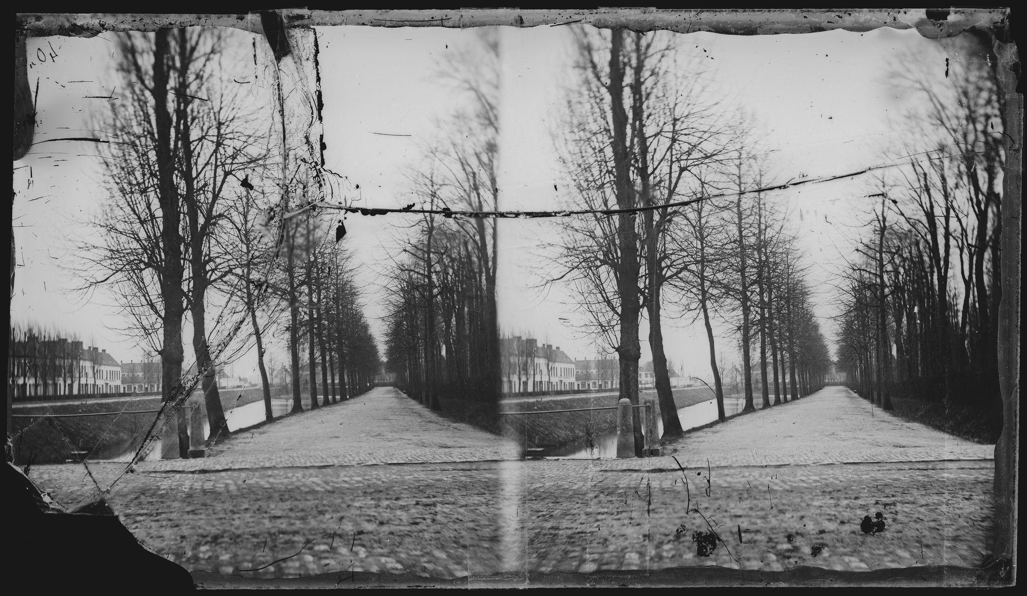 Parkstraat langs de wallen circa 1861