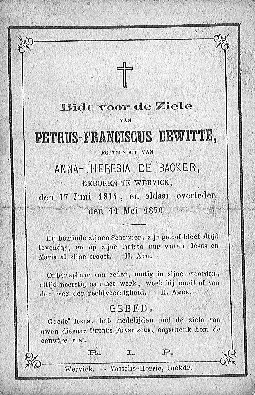 Petrus-Franciscus Dewitte