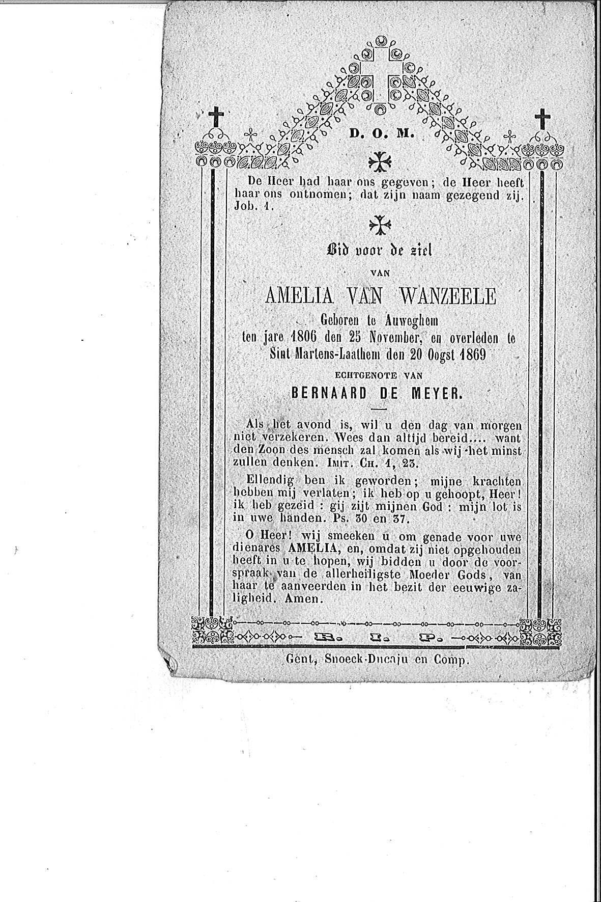 Van Wanzeele Amelia