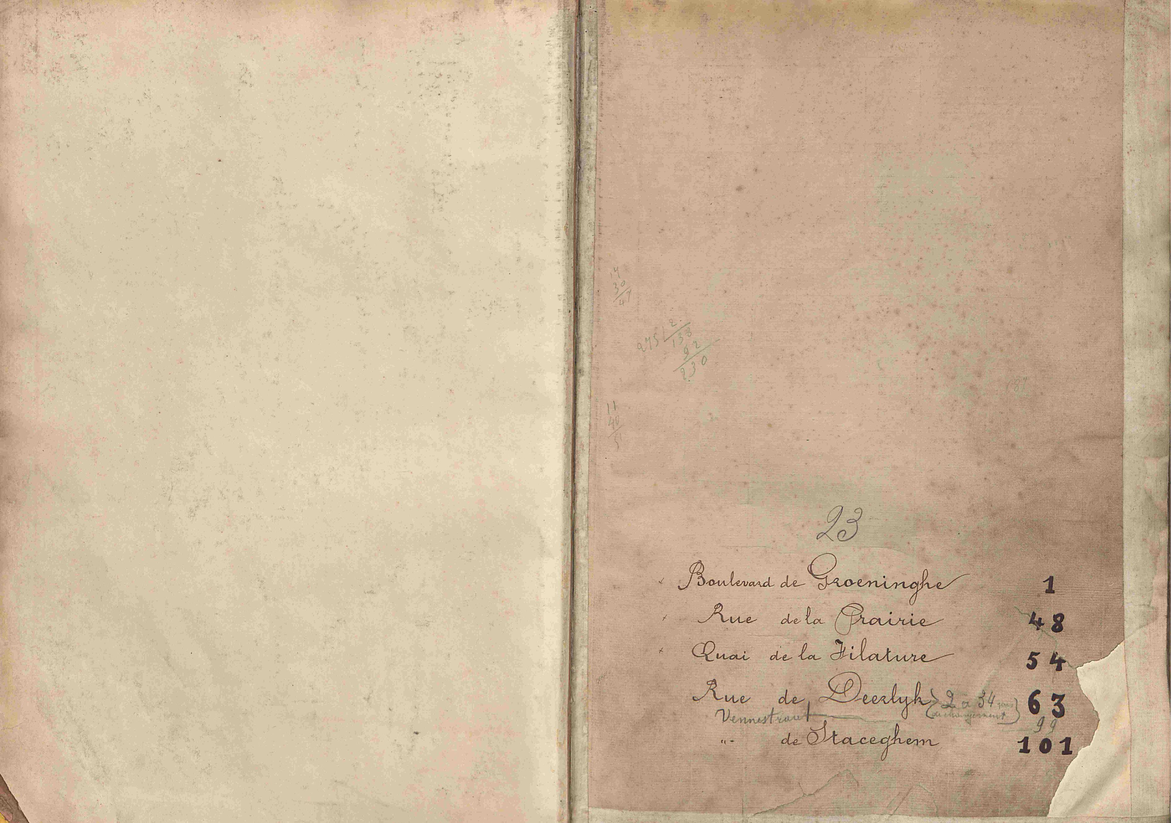 Bevolkingsregister Kortrijk 1890 boek 23