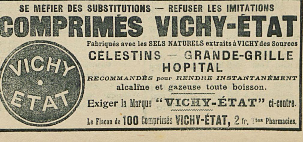 COMPRIMES VICHY-ETAT