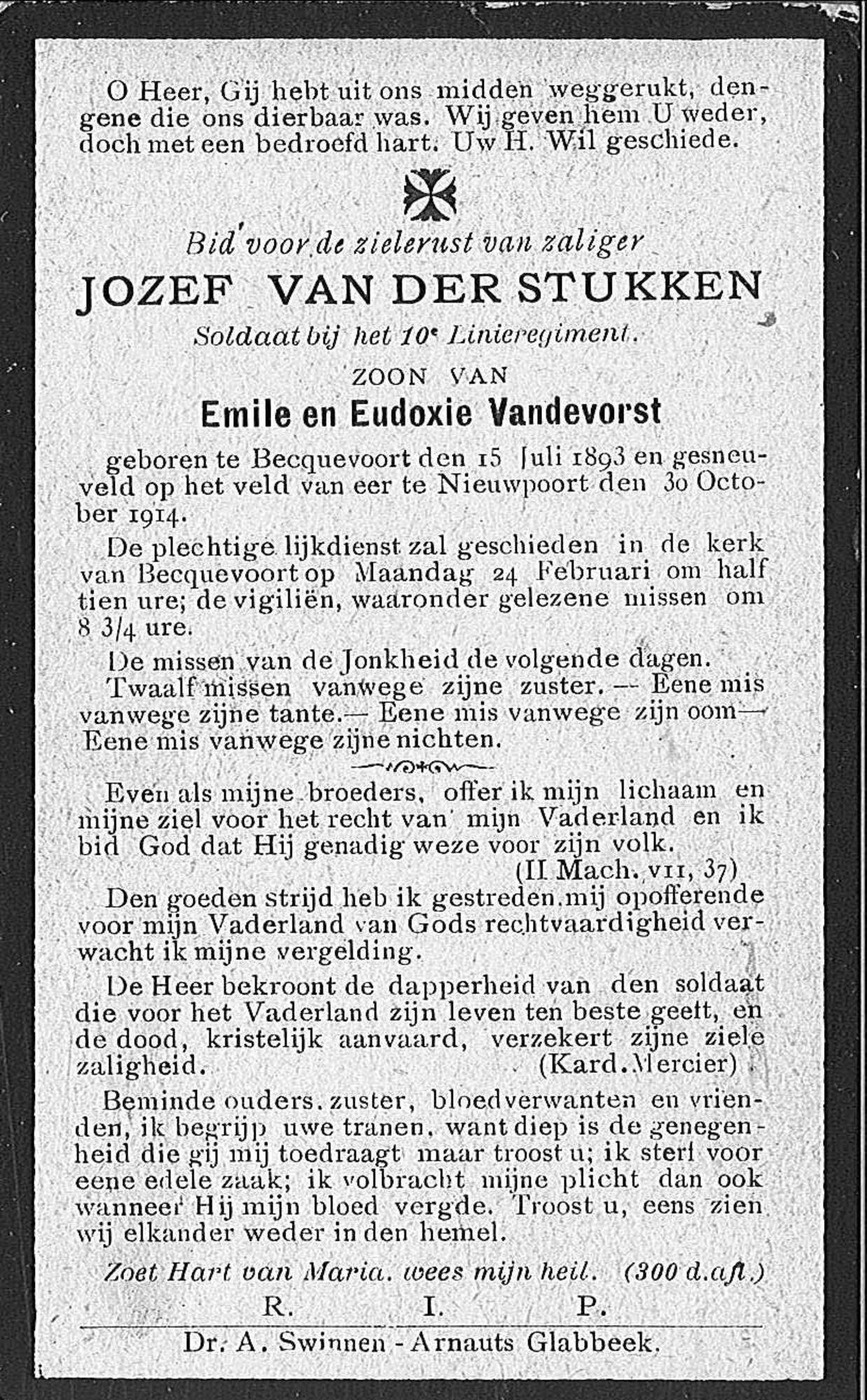 Jozef Van Der Stukken