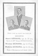 Gérard Henri,Nicolas en Mathieu