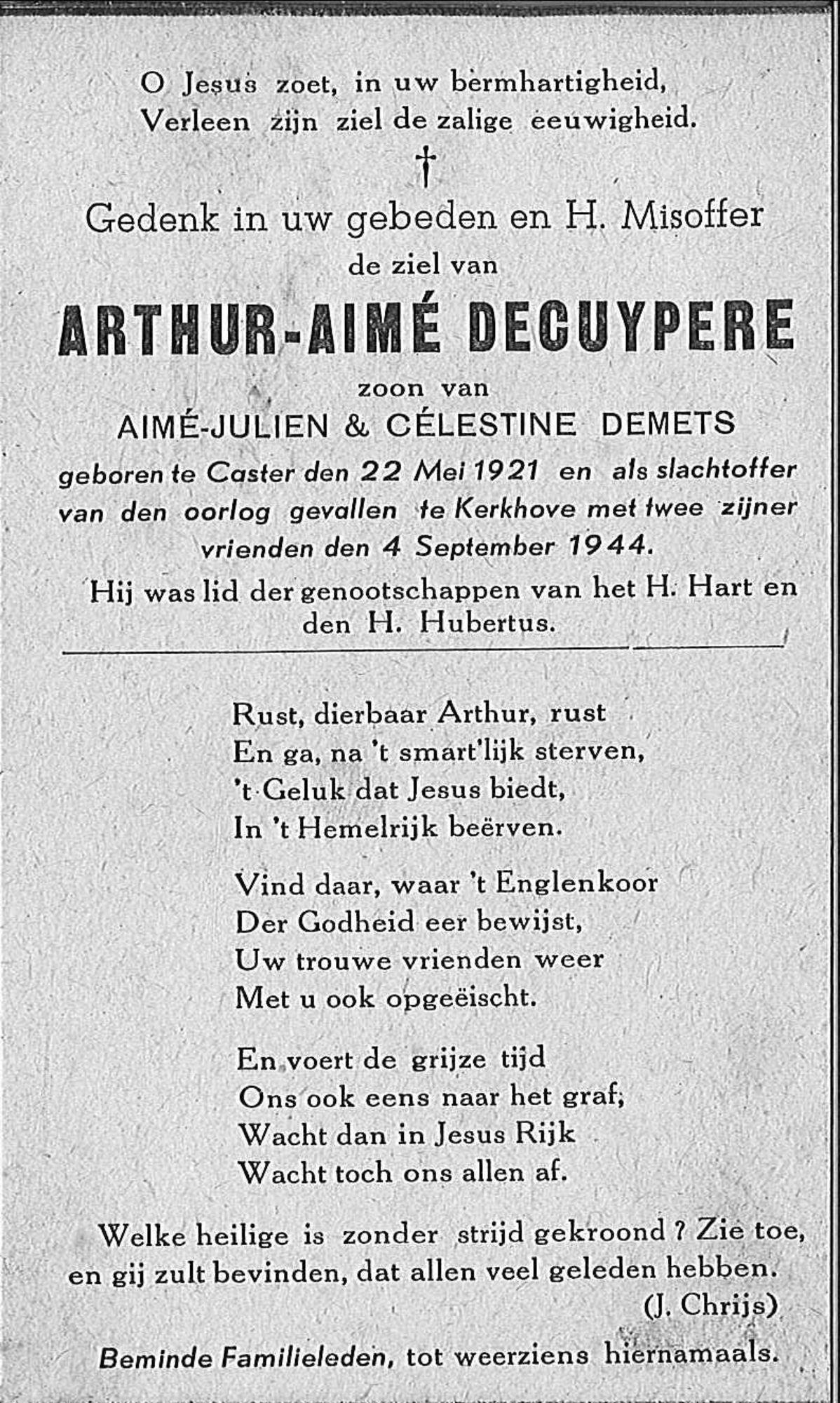 Arthur-Aimé Decuypere