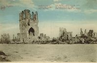 Westflandrica - de ruïne van de hallen van Ieper
