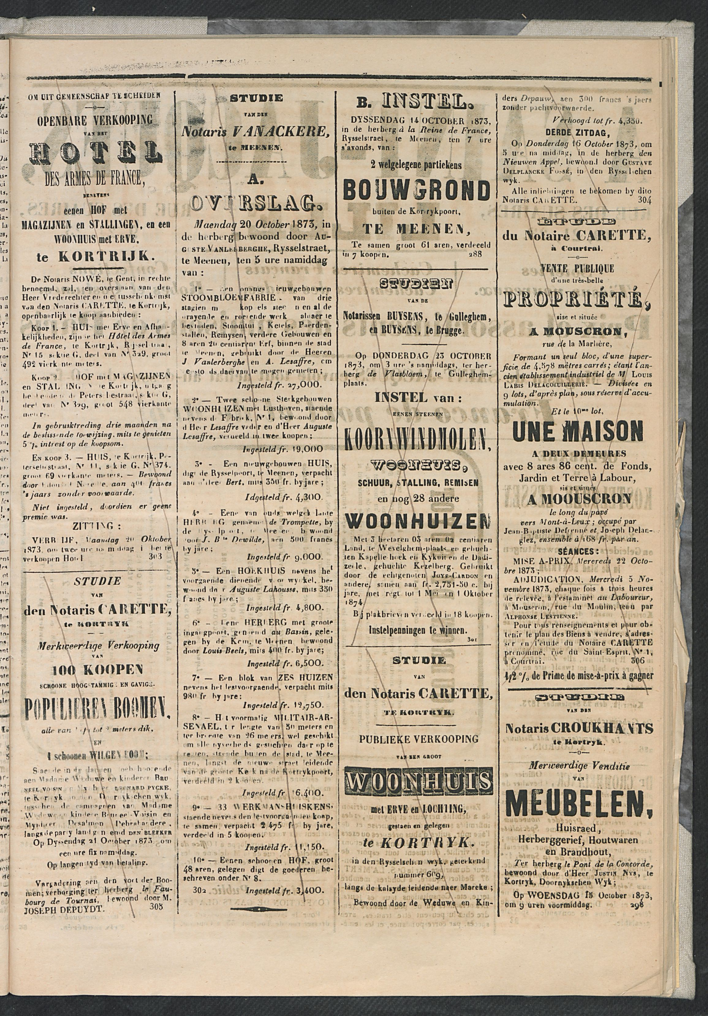 L'echo De Courtrai 1873-10-12 p3
