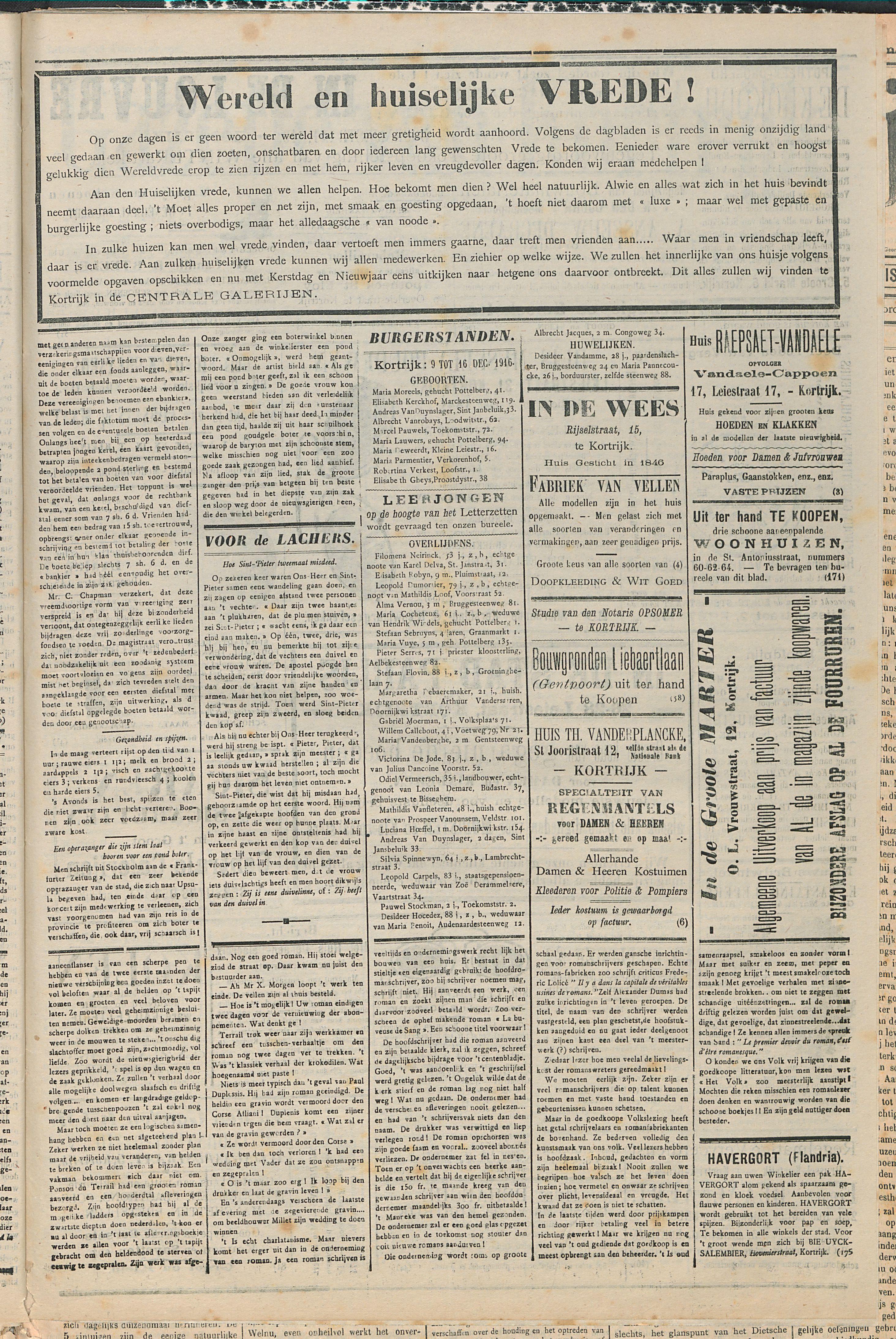 Gazette van Kortrijk 1916-12-16 p3