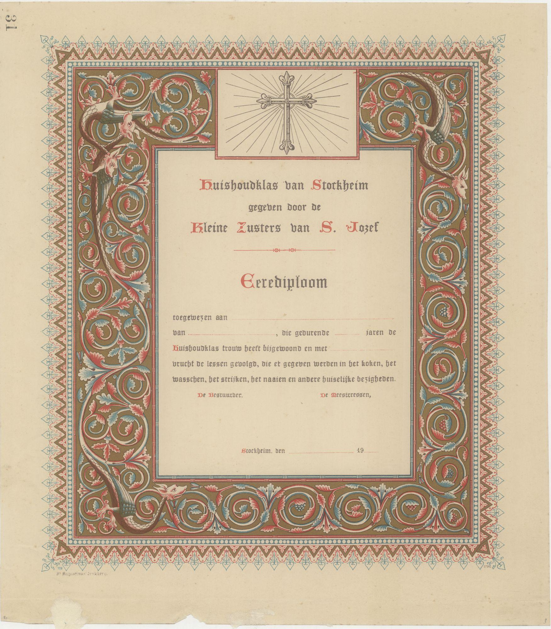 Westflandrica - voorbeeld van neogotisch drukwerk