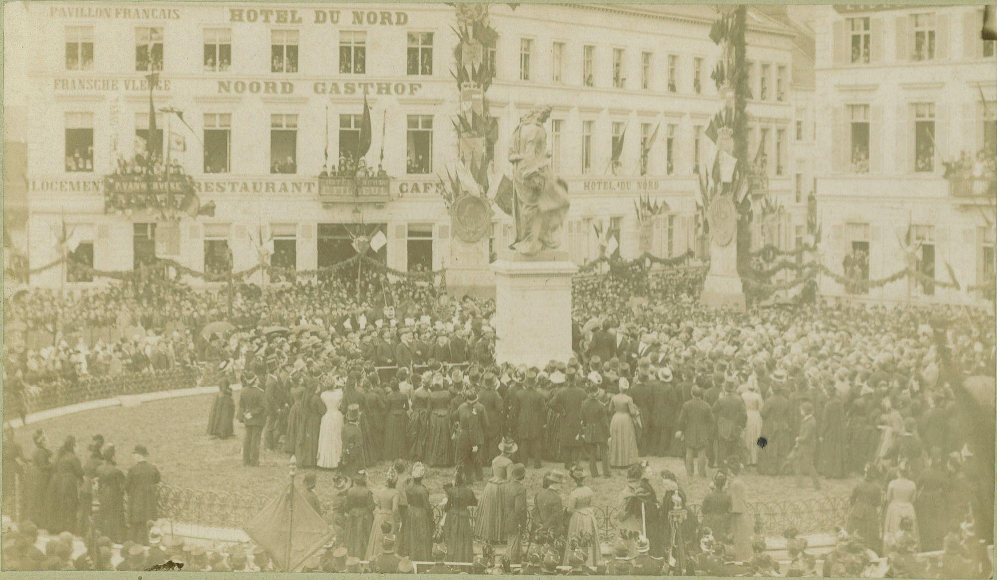 Onthulling monument van Jan Palfyn