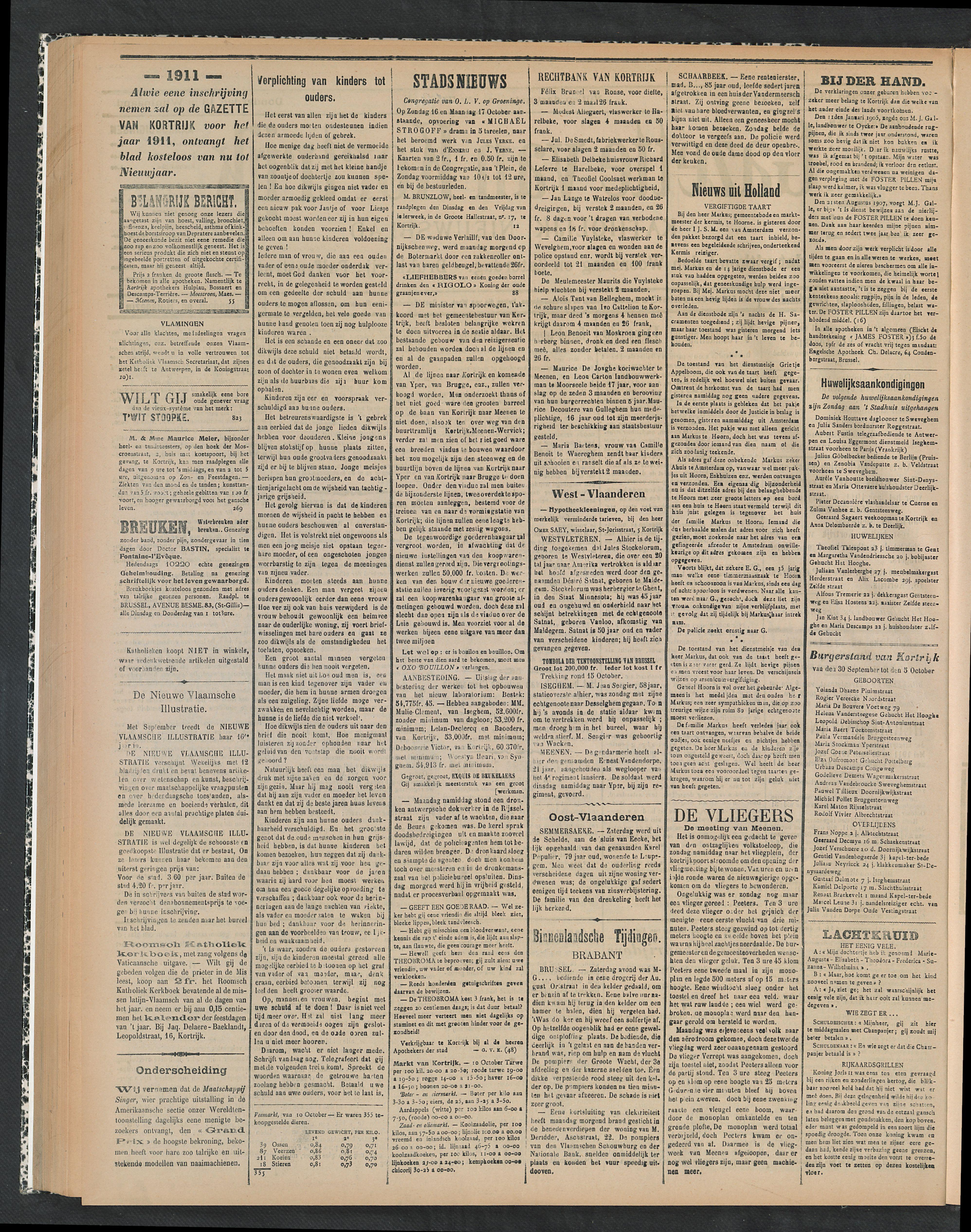 Gazette Van Kortrijk 1910-10-13 p2