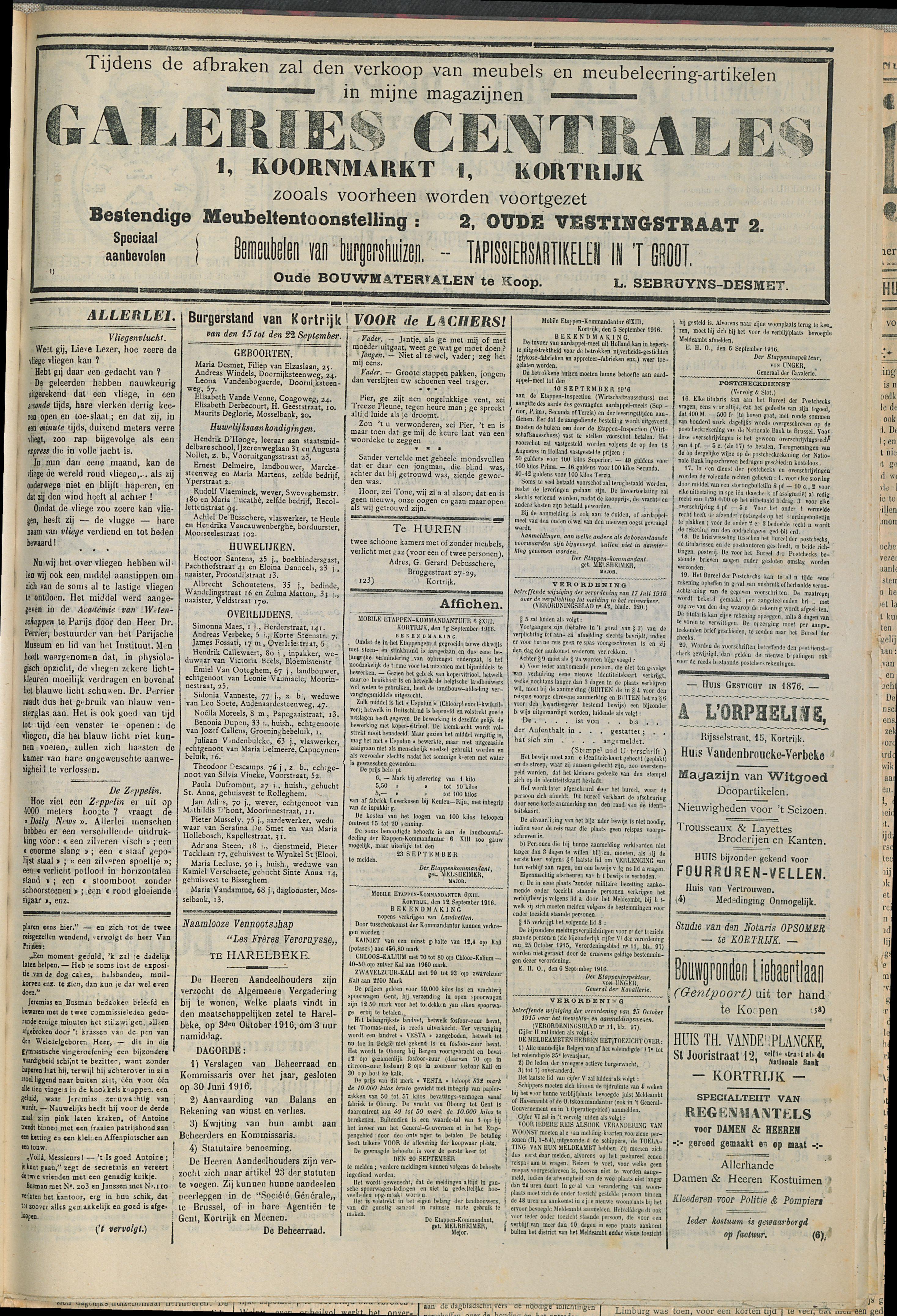 Gazette Van Kortrijk 1916-09-23 p3