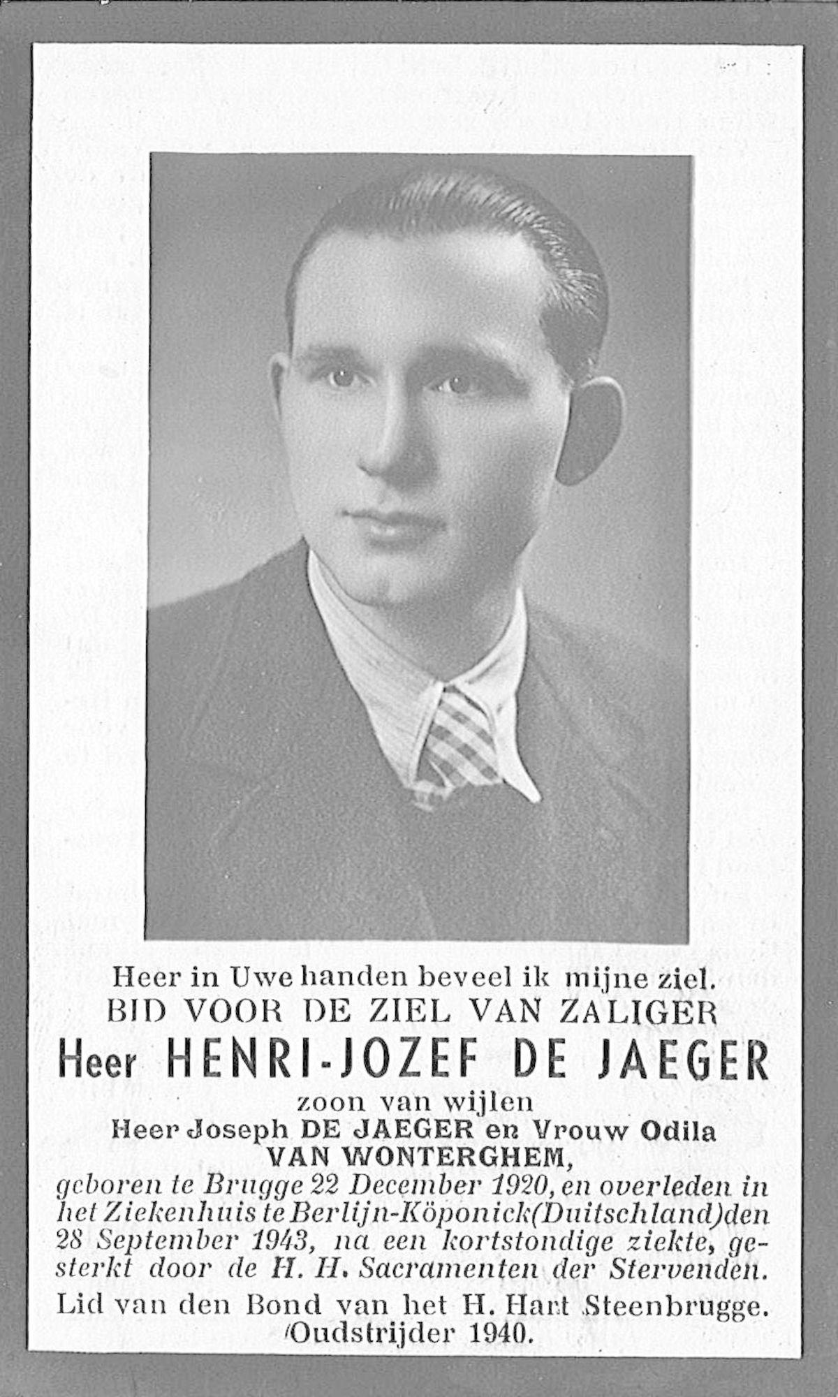 Henri-Jozef De Jaeger