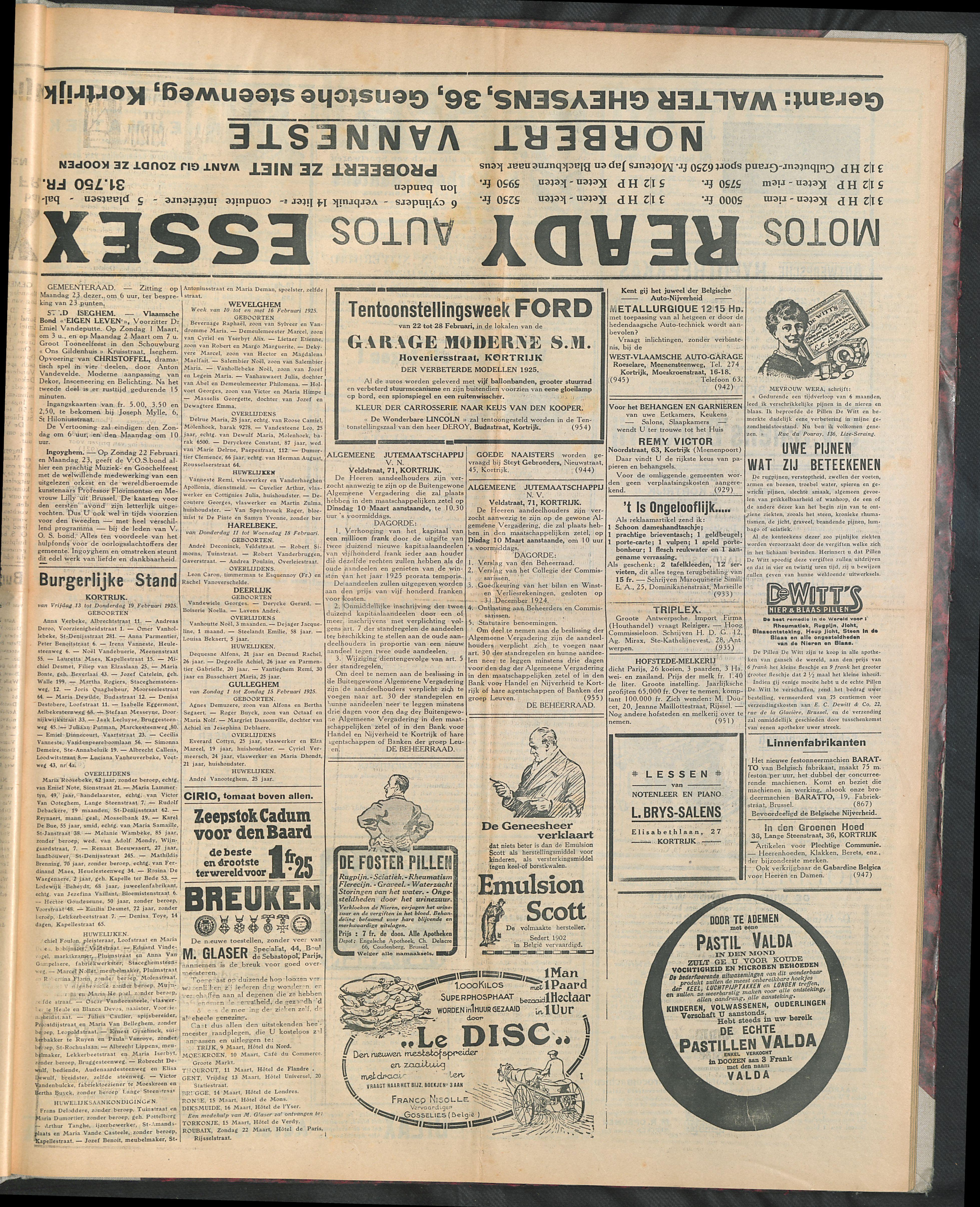 Het Kortrijksche Volk 1925-02-22 p3