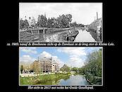 Leie en Kleine Leie rond 1905 en in 2013