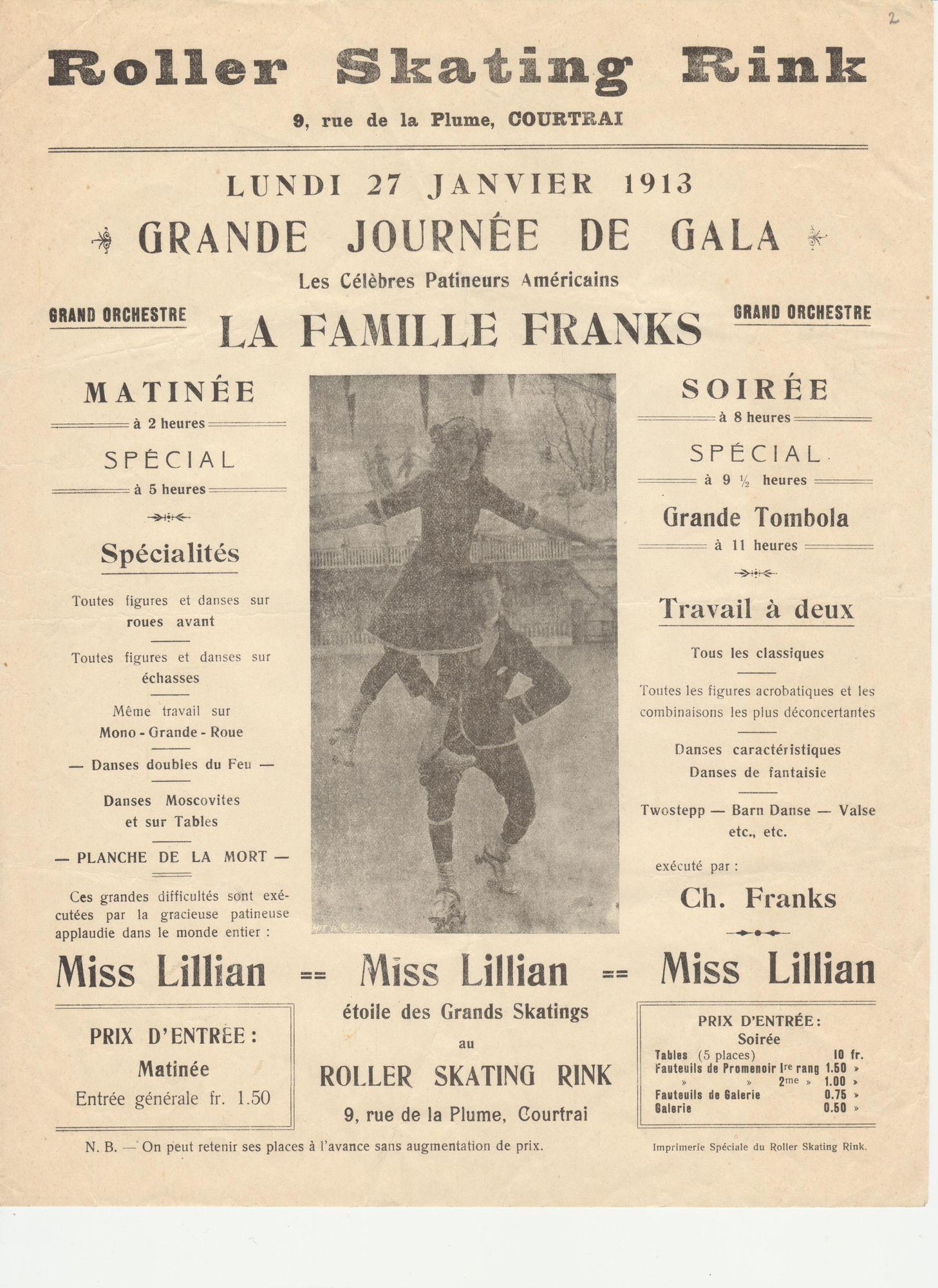 Rolschaatsen 1913