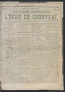 L'echo De Courtrai 1873-11-01 p1