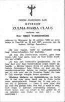 Zulma-Maria Claus