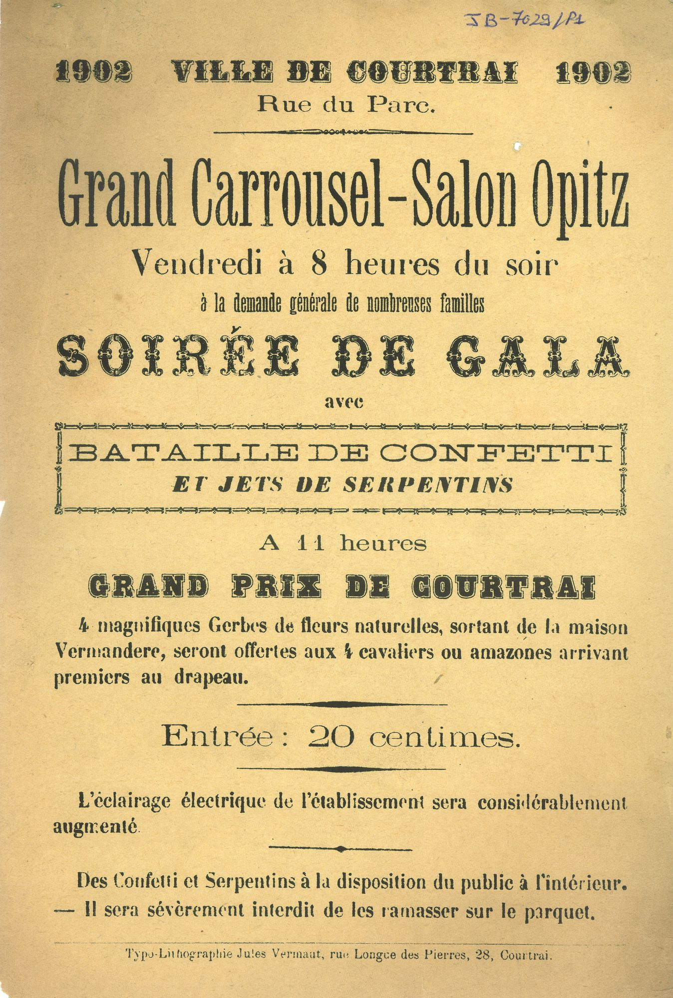 Paasfoor 1902: Grand Carrousel-Salon Opitz