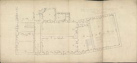 Bouwplannen van de inrichting van de stadsbibliotheek in de gewezen Berg van Barmhartigheid te Kortrijk, 1934.