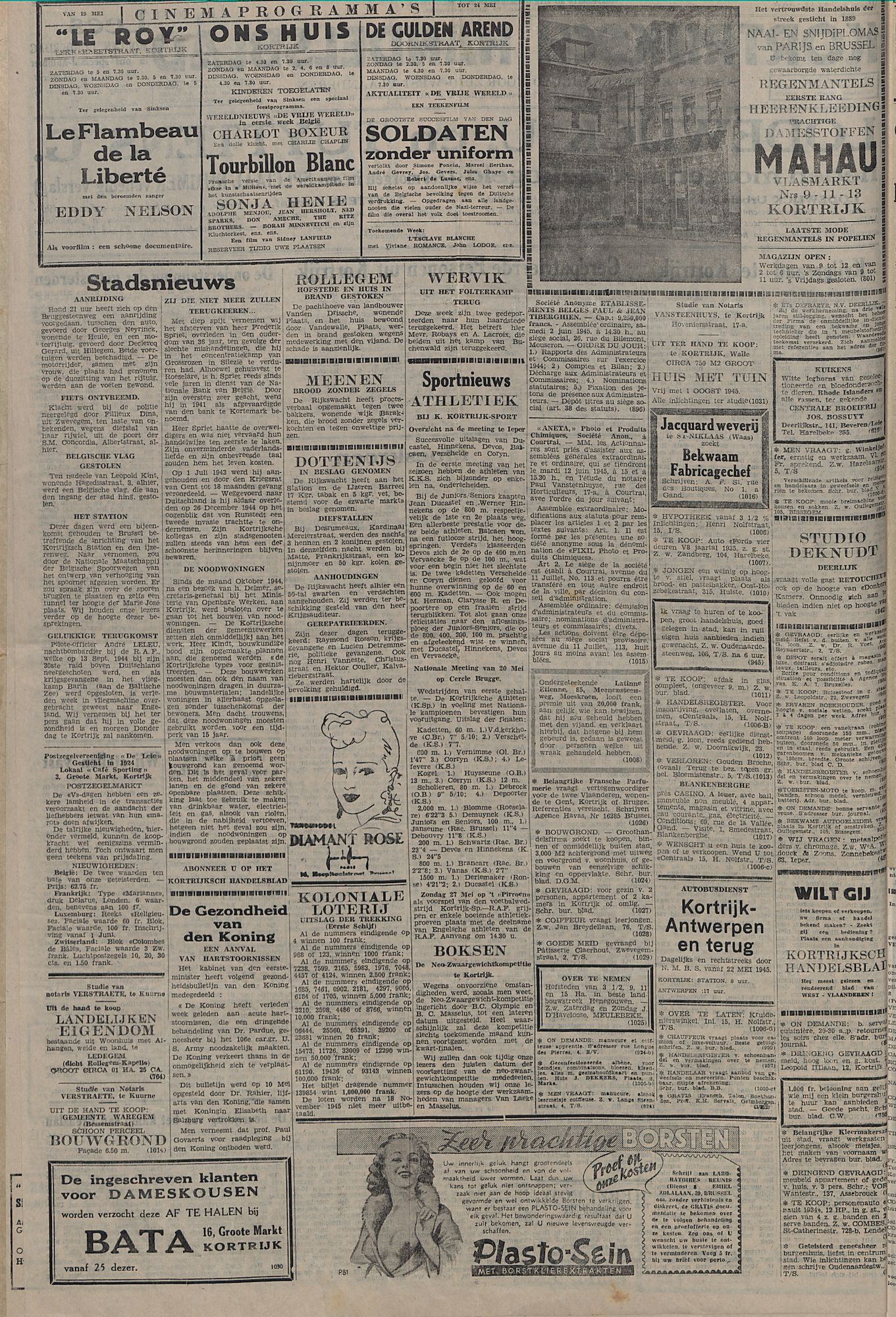 Kortrijksch Handelsblad 23 mei 1945 Nr41 p2