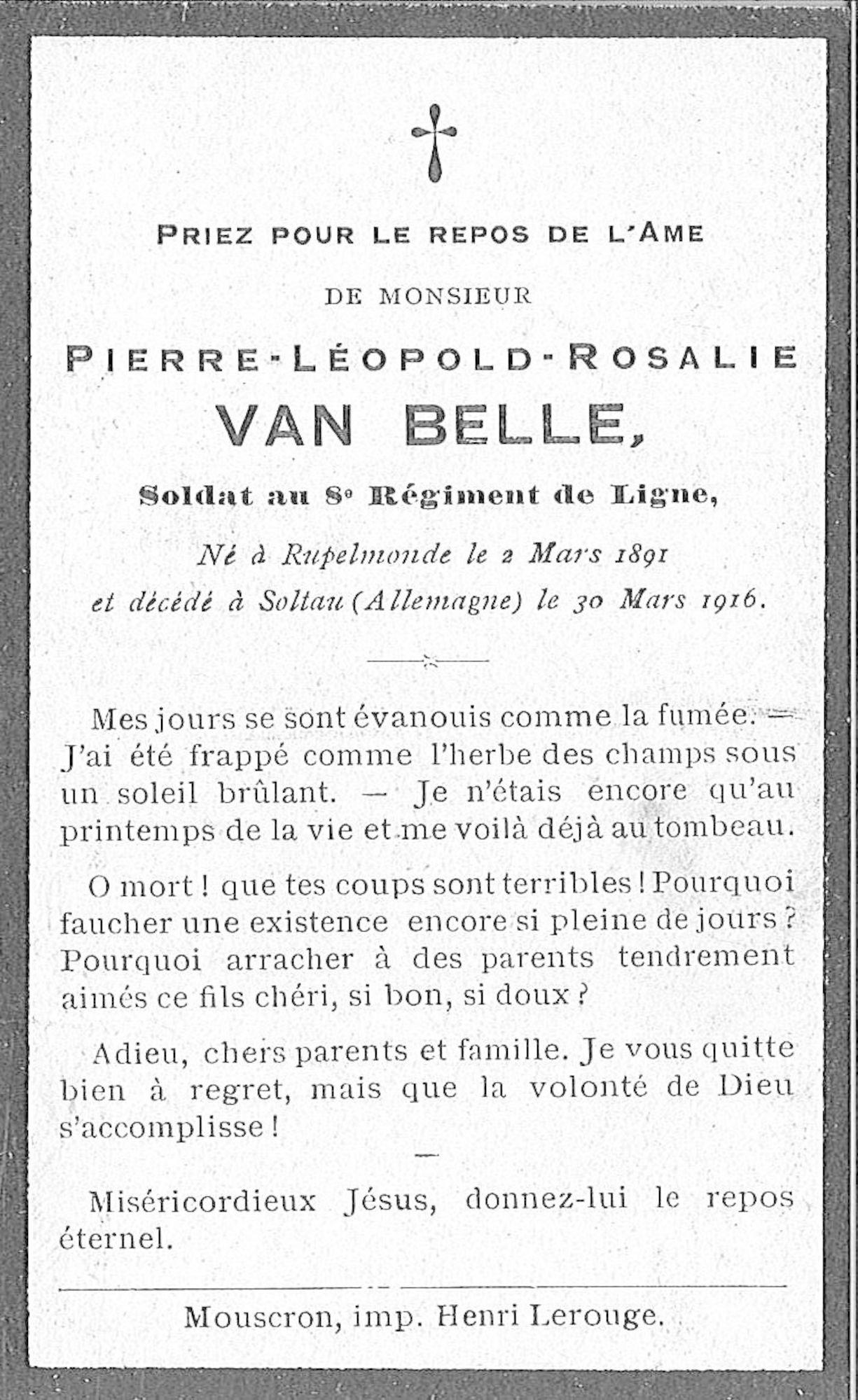 Pierre-Léopold-Rosalie Van Belle