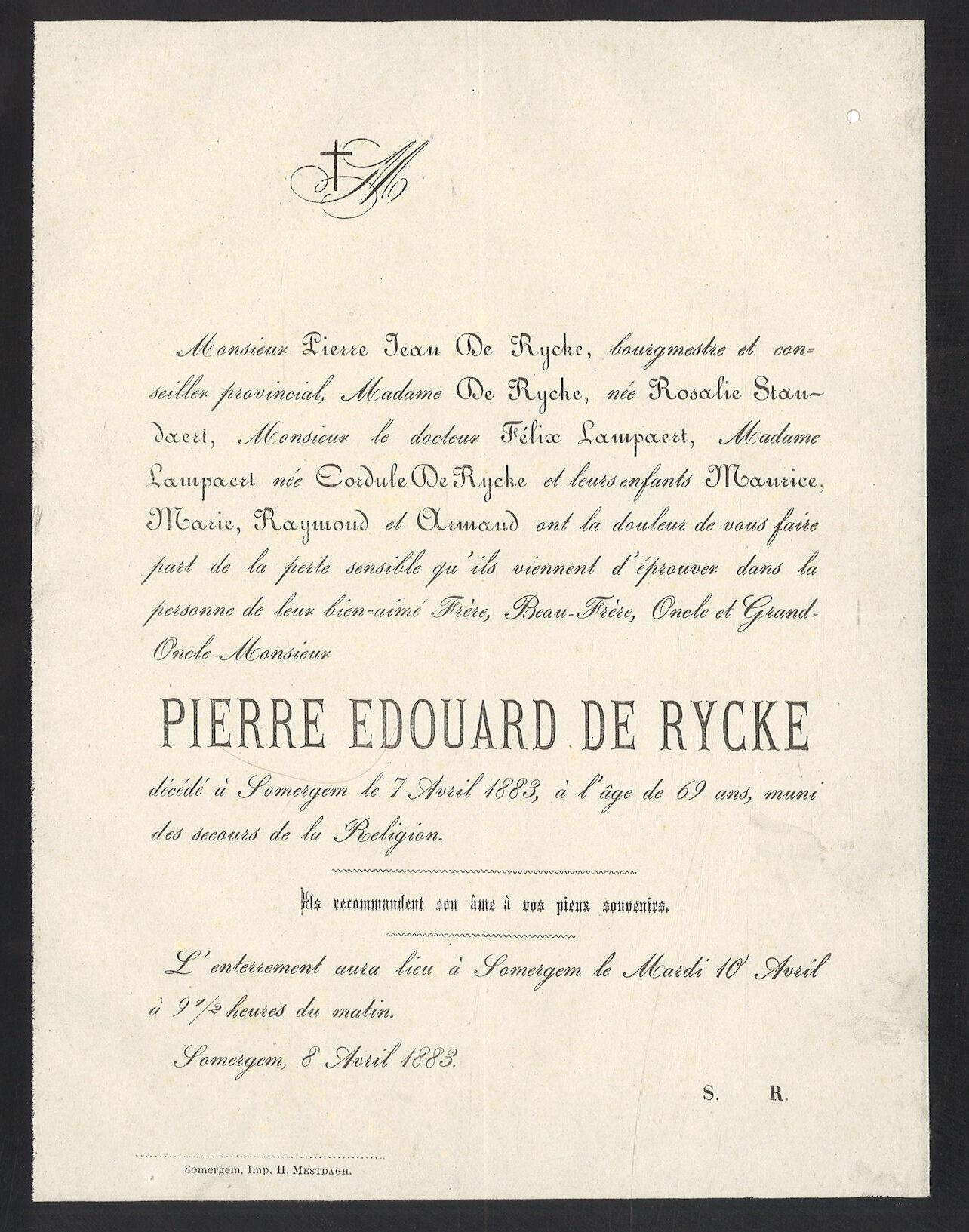 Pierre Edouard De Rycke