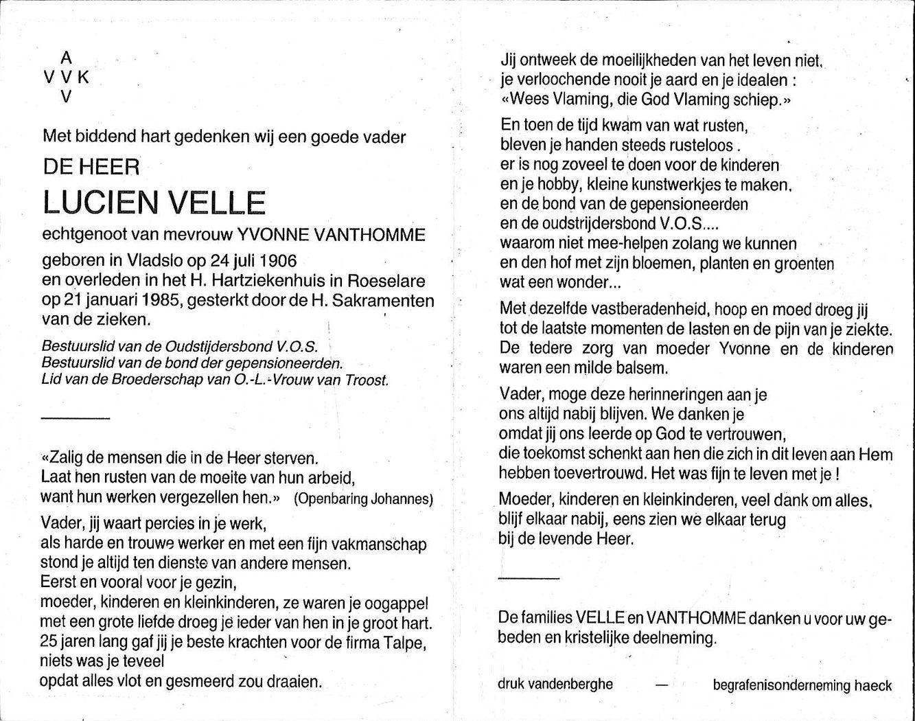Lucien Velle