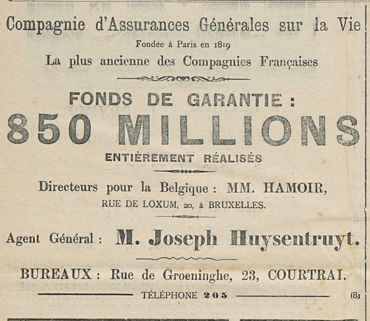 Compagnie d'Assurances Grenerales