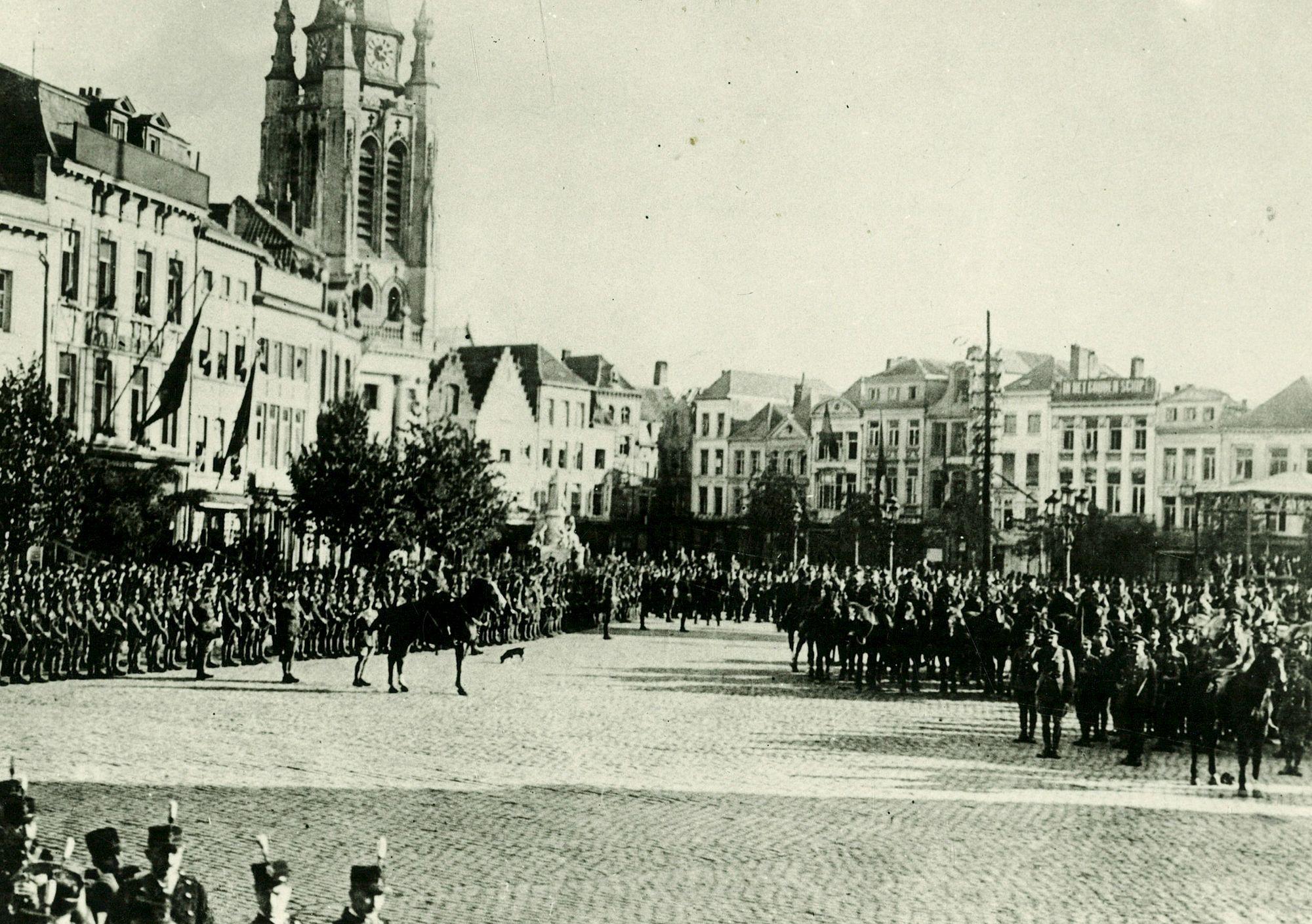 Albums Ghyoot 4_089 ontvangst Engelse soldaen 19de Engelse leger 28.10.1919