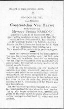 Van Hauwe Constant-Jan
