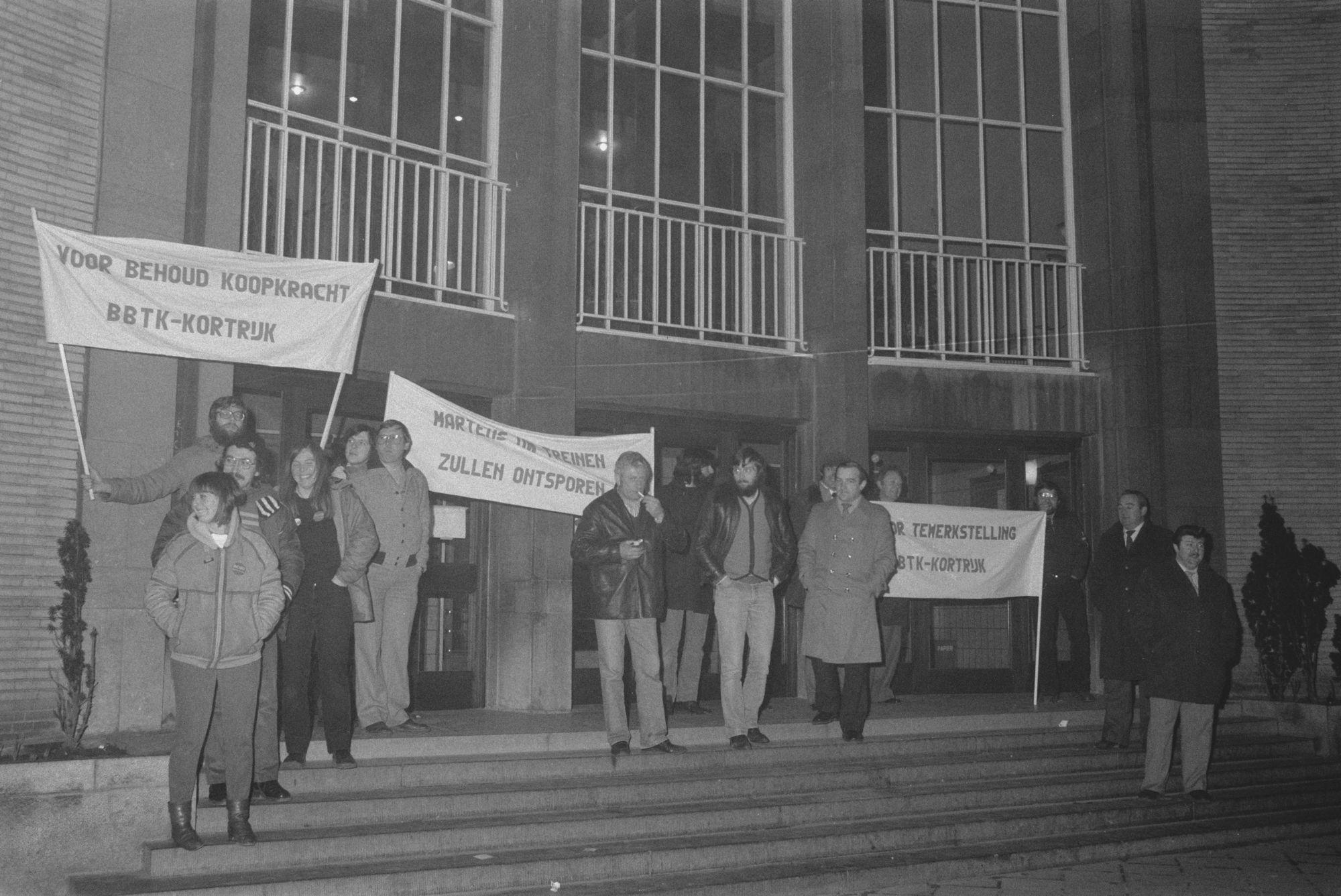 Betoging BBTK in maart 1982