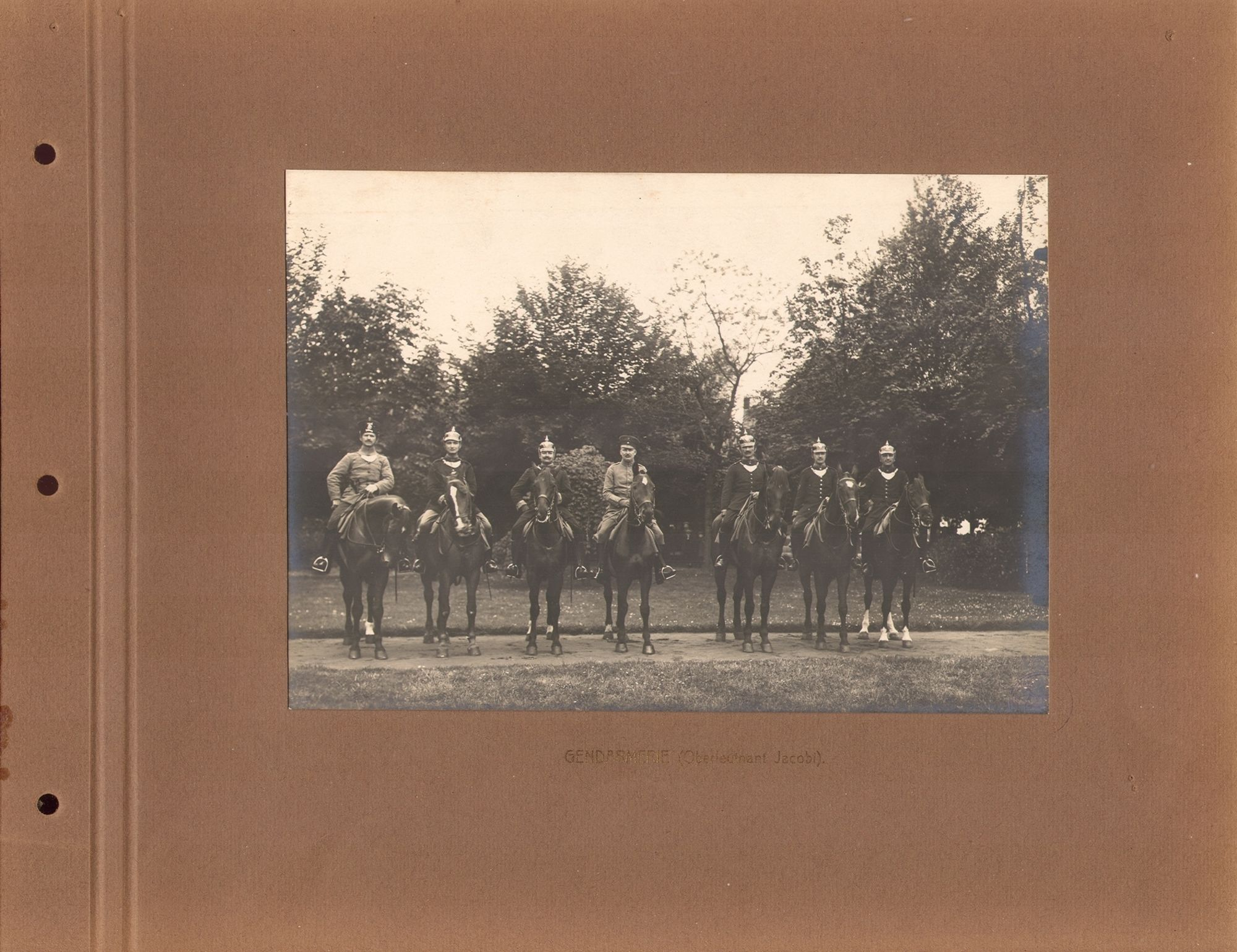 Gendarmerie tijdens Wereldoorlog I.