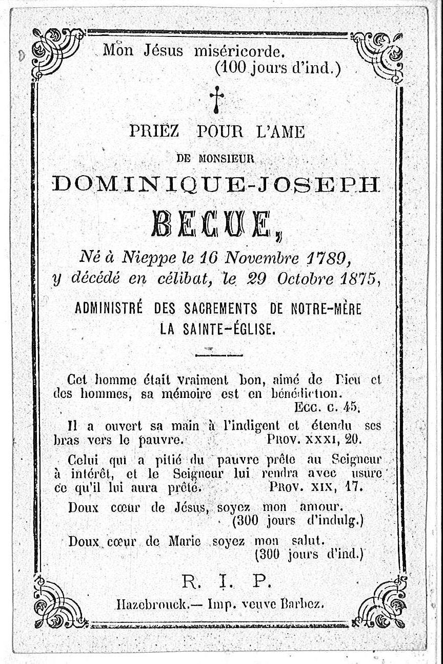 Dominique-Joseph Becue