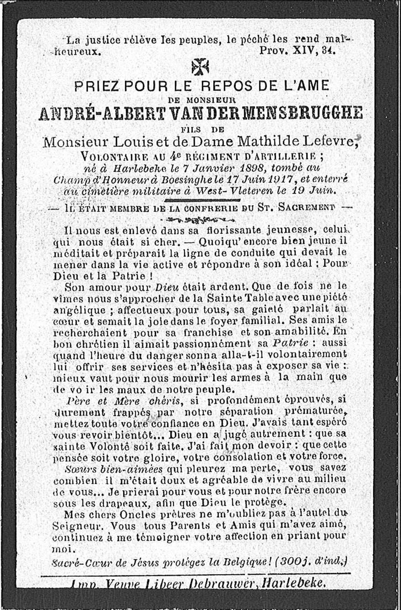 André-Albert Van Der Mensbrugghe