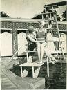 Zwembad aan de Abdijkaai in 1935