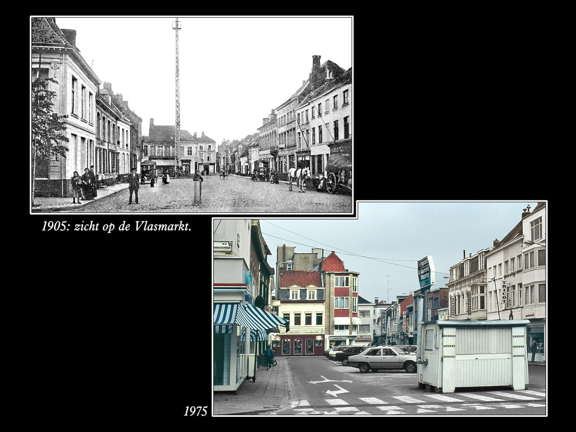 Vlasmarkt 1905 en 1975